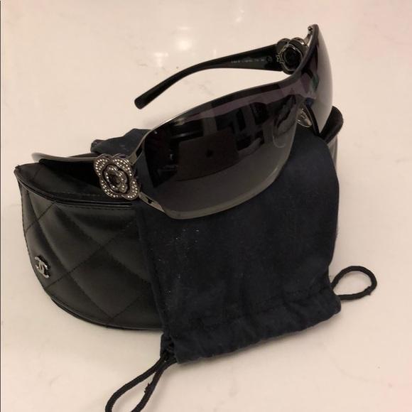 c079c39b6730 CHANEL Accessories - Authentic Chanel Shield Sunglasses